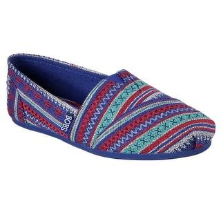 Skechers 34161 BLUE Women's BOBS PLUSH-LIL FOX Alpargata