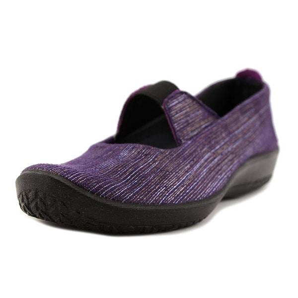 A'rcopedico Leina Women Round Toe Synthetic Purple Mary Janes