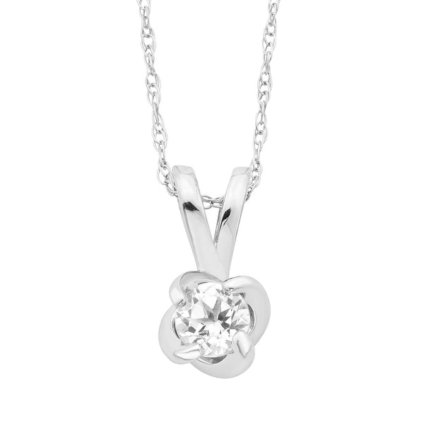 """Sterling Silver Birthstone Swirl Pendant with 18"""" Chain - N/A. Opens flyout."""