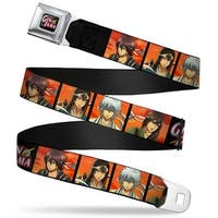 Crunchyroll Gin Tama Star Logo Full Color Black Gold Red Blues Gin Tama 4 Seatbelt Belt