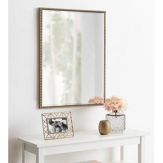 Kate and Laurel Gwendolyn Beaded Framed Wall Mirror - Gold