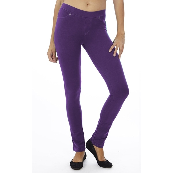 c8f74f019d59f4 Shop Women's Pull On Jeggings PURPLE-S-PURPLE - Free Shipping On Orders  Over $45 - Overstock - 23111884