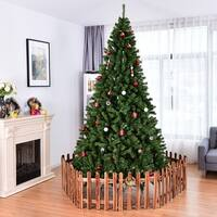 Costway 6FT/7.5FT/9FT PVC Artificial Christmas Tree 1000/1346 /2132  Tips Premium Hinged w/ Solid Metal Legs