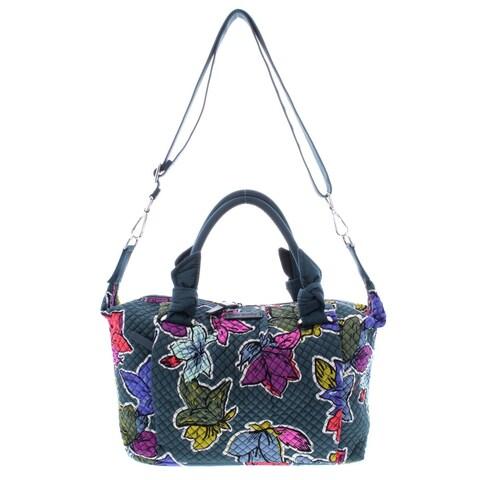 Vera Bradley Womens Hadley Satchel Handbag Quilted Floral Print - LARGE