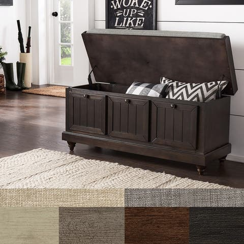 Granger Storage Bench with Linen Seat Cushion by iNSPIRE Q Classic