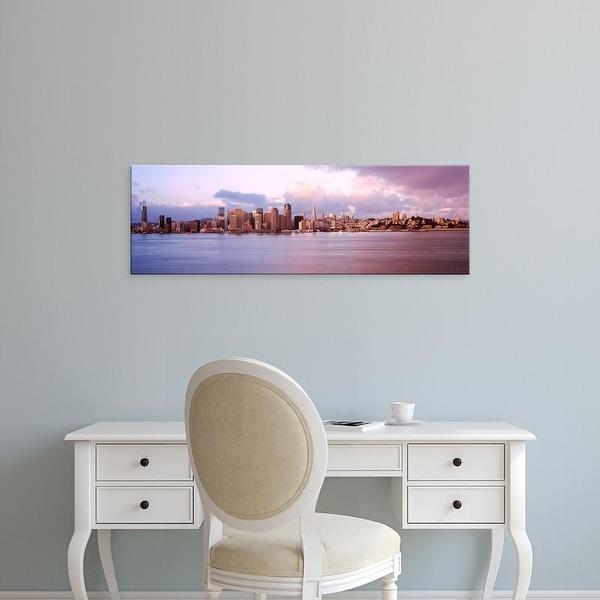Easy Art Prints Panoramic Image 'San Francisco city skyline, Treasure Island, San Francisco Bay, California' Canvas Art