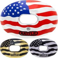 Battle Sports Science Chrome American Flag Lip Protector Mouthguard - One Size