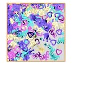 """Pack of 6 Blue, Purple and Gold """"Girls Rule"""" Celebration Confetti Bags 0.5 oz. - Multi"""