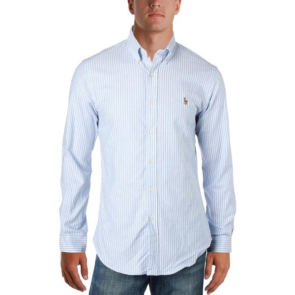 be17882c Shop Polo Ralph Lauren Mens Button-Down Shirt Slim-Fit Stretch Oxford - Free  Shipping Today - Overstock - 23424075