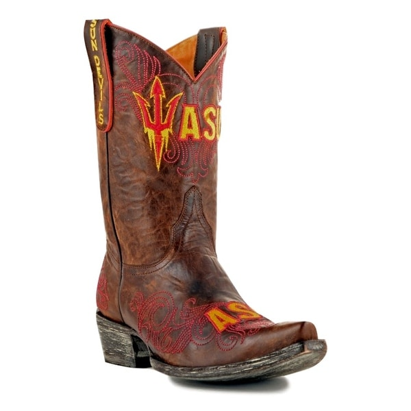 Gameday Boots Womens College Arizona State Sun Devils Brass