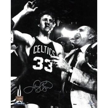 Shop Larry Bird Signed Boston Celtics 16x20 Vintage Bw