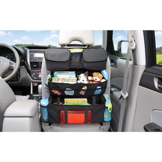 Children's On The Go Back Seat Car Organizer Storage - Black