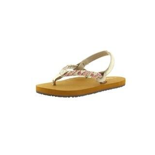Reef Little Twisted Stars Infant Girls Glitter Thong Sandals - 7/8