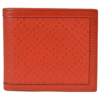 New Gucci Men's 225826 Oxidation RED Leather Diamante Bifold Wallet
