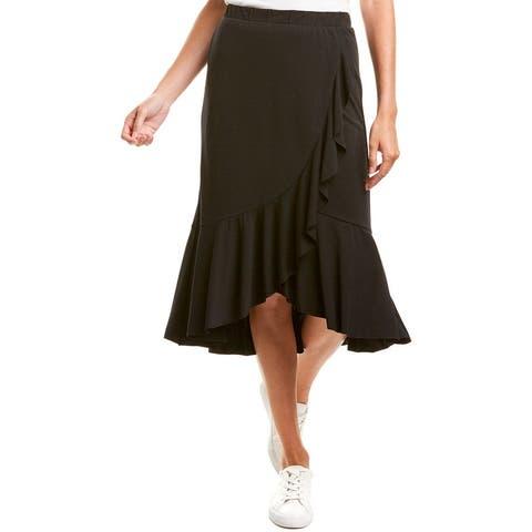 Lilla P Ruffle Midi Skirt