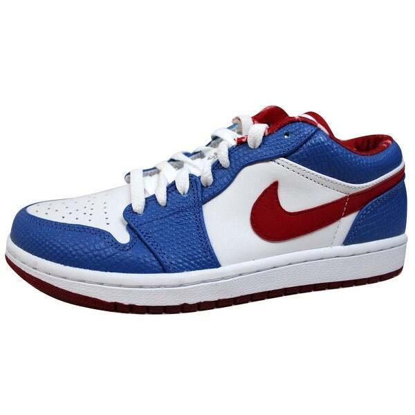Jordan Unisex's Basketball Shoes Air Retro 1 Low White/VarsityRed-Varsity Royal