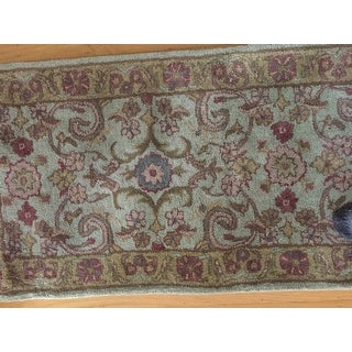 Safavieh Handmade Heritage Traditional Kerman Grey/ Gold Wool Rug