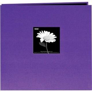 """Pioneer Book Cloth Cover Post Bound Album 12""""X12""""-Grape Purple"""