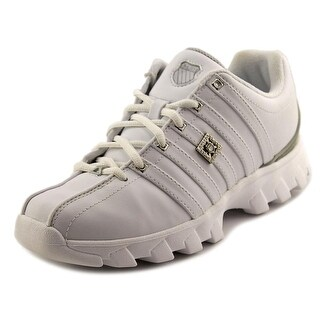 K-Swiss ST329 CMF Low Men Round Toe Leather White Sneakers