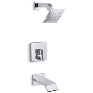 Kohler K-T14664-4  Loure Tub and Shower Trim Package with Single Function Rain Shower with Katalyst and MasterClean Technologies