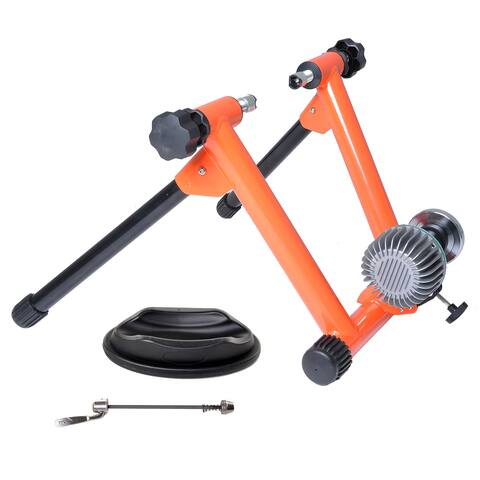 Conquer Fluid Bike Trainer, Pro Indoor Bicycle Training Stand - Orange