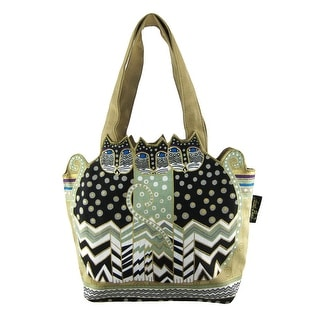 Scoop Tote 19.5X13.5-Polka Dot Gatos Laurel Burch 3hbnEJEM