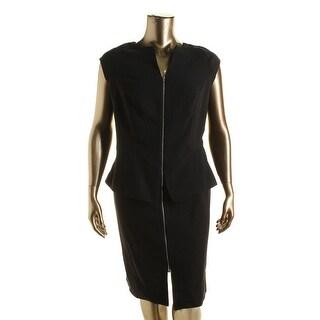 Mynt 1792 Womens Plus Peplum Zip Front Wear to Work Dress - 20W