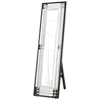 "Cyan Design 8730 Optika 55"" Tall Beveled Glass Standing Mirror - Black - N/A"
