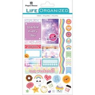 Paper House Life Organized Planner Stickers -Kawaii Fun