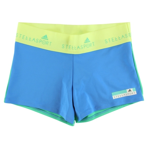 2c1a8ea43e150 Adidas Womens Stella McCartney Sport Shortsy Shorts Blue - Blue Green - M