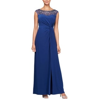 Link to Alex Evenings Womens Evening Dress Mesh Embellished Similar Items in Dresses