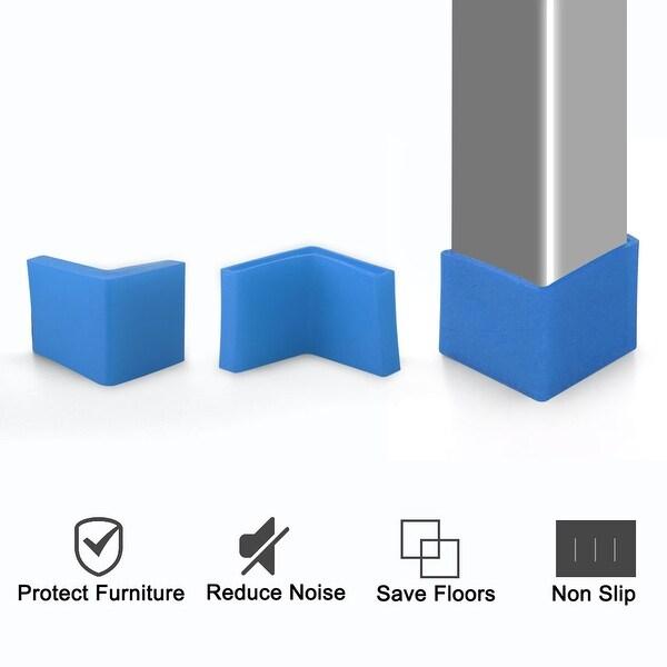 Angle Iron Foot Pad L Shaped PVC Leg Cap Shelf Metal Feet Floor Protector 16 Pcs