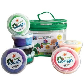 The World of Eric Carle Super Play Dough Model Set of 8, With Zipper Bag