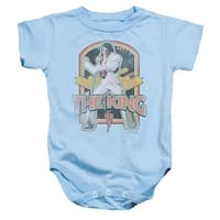 Elvis Presley Distressed King Unisex Baby Snapsuit