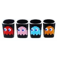 Pacman Square Molded Shot Glasses Set of 4 - Multi