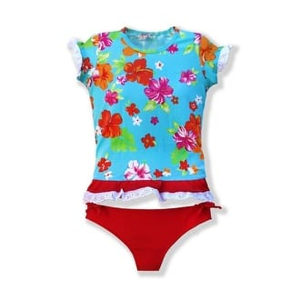 Azul Girls Red Turquoise Floral Totes Cute UPF 50+ Rash Guard (Option: Blue)|https://ak1.ostkcdn.com/images/products/is/images/direct/85fb1533ab43ff26ac4a5d072f22bdc1709fa4a0/Azul-Girls-Red-Turquoise-Floral-Totes-Cute-UPF-50%2B-Rash-Guard-2T-10.jpg?impolicy=medium