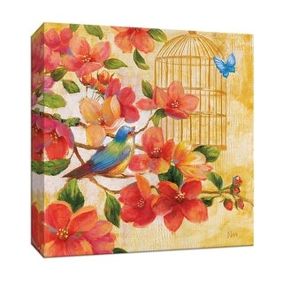 """PTM Images 9-146860  PTM Canvas Collection 12"""" x 12"""" - """"Spring Fling I"""" Giclee Flowers Art Print on Canvas"""