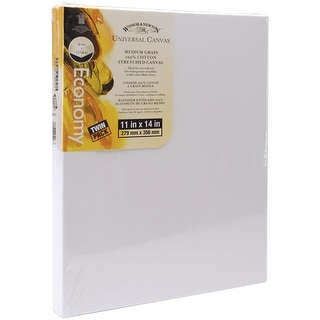 """Universal Stretched Canvas Twin Pack 2/Pkg-11""""X14"""""""