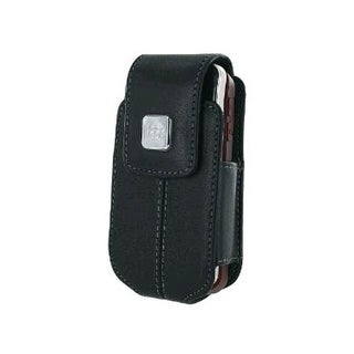 BlackBerry - Flip Leather Swivel Holster for BlackBerry 8220, 8230 Pearl - Black
