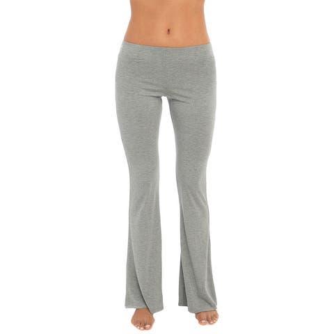 C&C California Heather Yoga Pants - HEATHER GREY 1