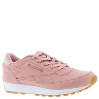 a806099f18f Reebok Womens classic renaissance Leather Low Top Lace Up Running Sneaker