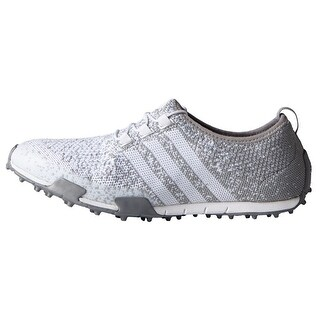 Adidas Women's Ballerina Primeknit FTWR White/Light Onix/Silver Metallic Golf Shoes F33321