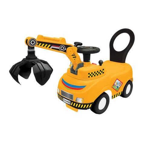 Kiddieland Lights N' Sounds Activity Crane Truck Ride-on Toy