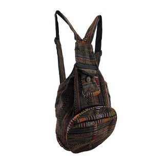 Striped Tapestry Style Colorful Convertible Back Pack