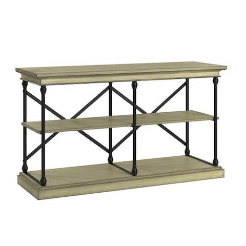 Barnstone Cornice Iron and Wood Entryway Console Table by iNSPIRE Q Artisan