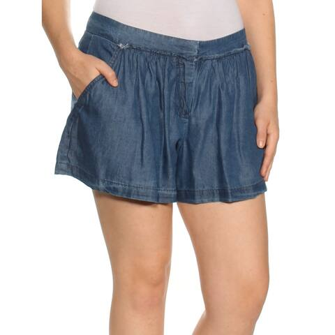 MAX STUDIO Womens Blue Cropped Short Size: 6