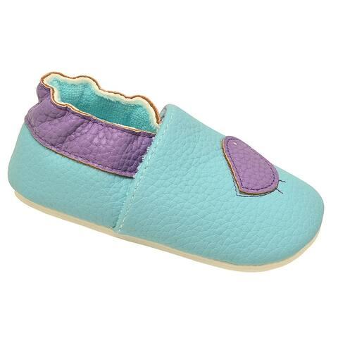 juDanzy Girls Aqua Lavender Dainty Bird Soft Sole Casual Shoes