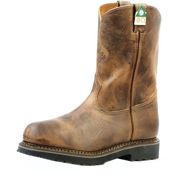 Boulet Work Boots Mens Leather Steel Toe Lenzi Hill Billy Golden