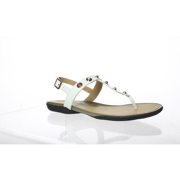 VANELi Womens Wally White Sandals Size