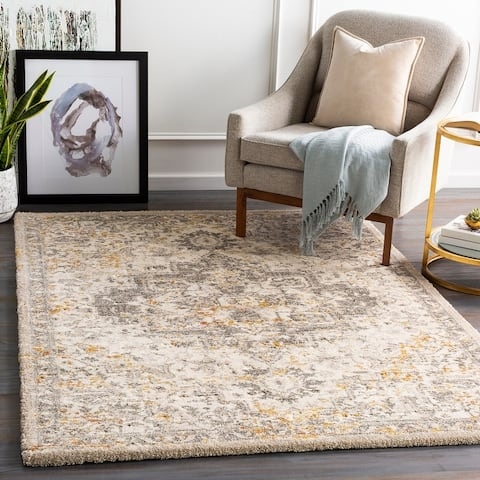 Pienza Plush Traditional Medallion Area Rug